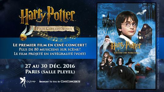 Harry Potter à l'école des Sorciers en ciné-concert à Paris (27-30 Dec)