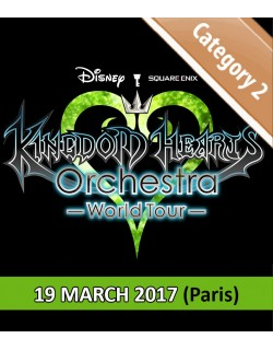 PARIS - Cat.2 - March 19, 2017 - KINGDOM HEARTS Orchestra - World Tour - Salle Pleyel - 3pm - Concert Ticket