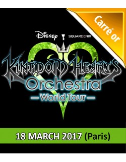PARIS - Carré Or Ticket - March 18, 2017 - KINGDOM HEARTS Orchestra - World Tour - Salle Pleyel - 8pm - Concert Ticket