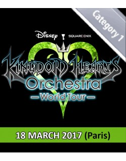 PARIS - Cat.1 - March 18, 2017 - KINGDOM HEARTS Orchestra - World Tour - Salle Pleyel - 8pm - Concert Ticket