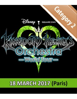 PARIS - Cat.2 - March 18, 2017 - KINGDOM HEARTS Orchestra - World Tour - Salle Pleyel - 8pm - Concert Ticket