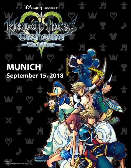 MUNICH - VIP Cat.1 - Sept. 15, 2018 - KINGDOM HEARTS Orchestra - World Tour - Concert Ticket - Philarmonie (8pm)