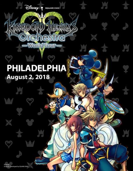 PHILADELPHIA - Cat.1 - Aug. 2, 2018 - KINGDOM HEARTS Orchestra - World Tour - Concert Ticket - Mann Centre (8pm)