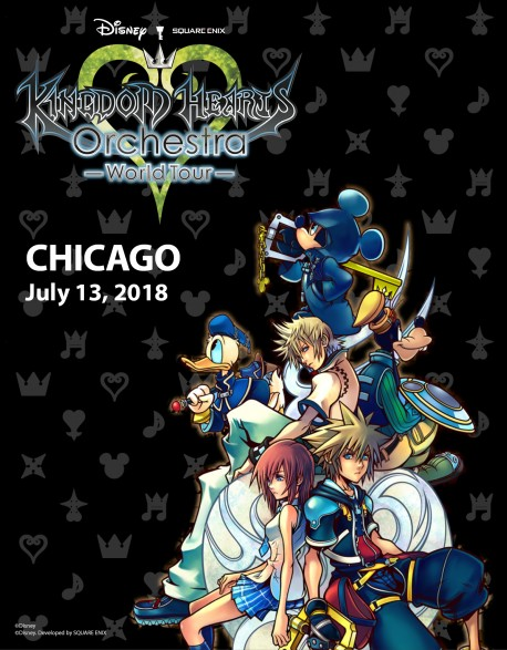 CHICAGO - Cat.3 - Jul. 13, 2018 - KINGDOM HEARTS Orchestra - World Tour - Concert Ticket - Auditorium Theatre (8pm)